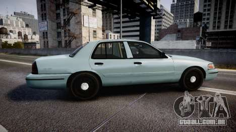 Ford Crown Victoria 2007 para GTA 4 esquerda vista