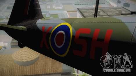 ИЛ-10 da Força Aérea Real para GTA San Andreas vista traseira