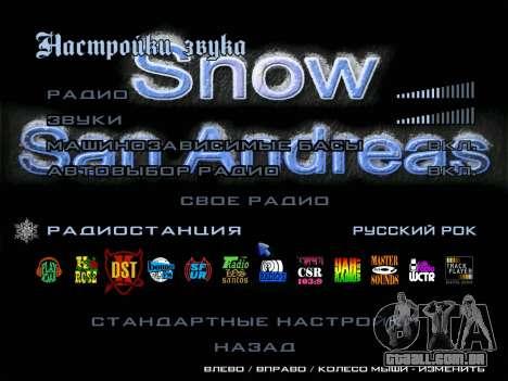 Rádio de ROCK russa para GTA San Andreas segunda tela