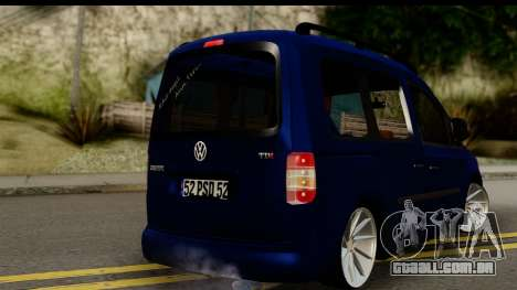 Volkswagen Caddy v1 para GTA San Andreas esquerda vista