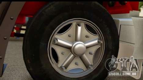 Mack Superliner 6x4 para GTA San Andreas traseira esquerda vista