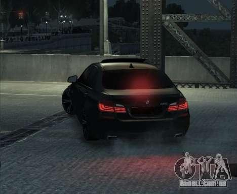 BMW M5 F10 2014 para GTA 4 vista direita