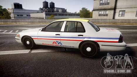 Ford Crown Victoria 2007 American Airlines para GTA 4 esquerda vista