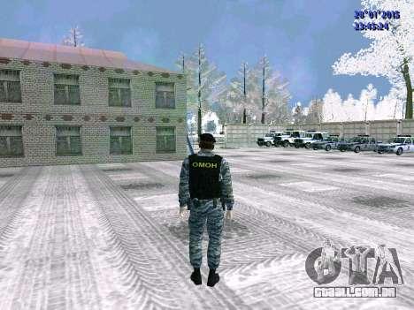 O lutador OMON para GTA San Andreas por diante tela