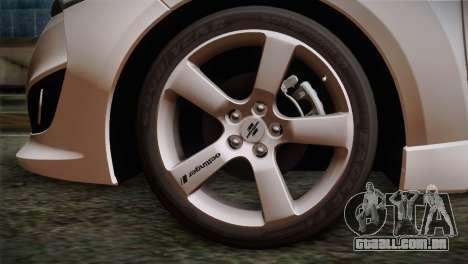 Hyundai Veloster 2012 Autovista para GTA San Andreas traseira esquerda vista