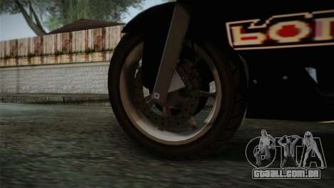 GTA 5 Bati Police para GTA San Andreas traseira esquerda vista