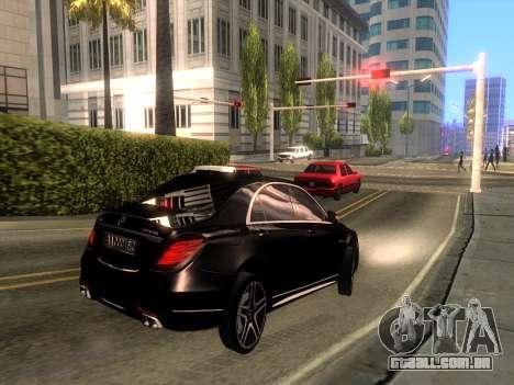 Mercedes-Benz Long S65 W222  Black loaf para GTA San Andreas traseira esquerda vista
