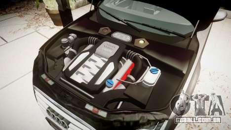 Audi A8 L 4.2 FSI quattro para GTA 4 vista de volta