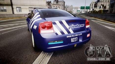 Dodge Charger 2010 Police [ELS] para GTA 4 traseira esquerda vista