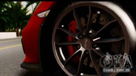 Porsche Cayman GT4 981c 2016 EU Plate para GTA San Andreas vista traseira