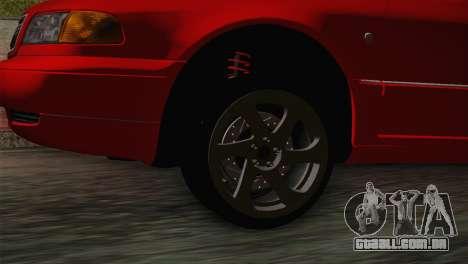 Audi A8 2000 para GTA San Andreas traseira esquerda vista