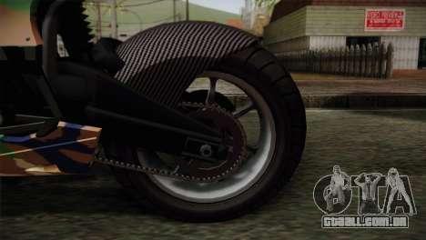 GTA 5 Bati MIX para GTA San Andreas traseira esquerda vista
