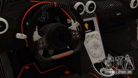 Koenigsegg One 1 para GTA San Andreas vista traseira