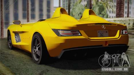 Mercedes-Benz SLR McLaren Stirling Moss para GTA San Andreas esquerda vista