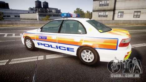 Vauxhall Omega Metropolitan Police [ELS] para GTA 4 esquerda vista
