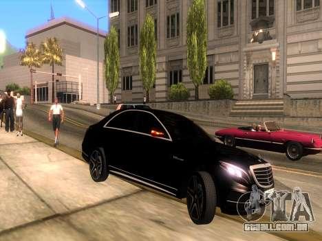 Mercedes-Benz Long S65 W222  Black loaf para GTA San Andreas vista direita