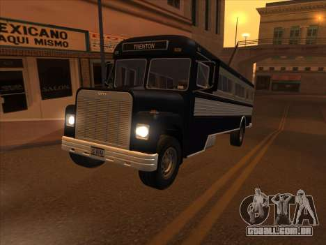 Ônibus из GTA 3 para GTA San Andreas vista interior