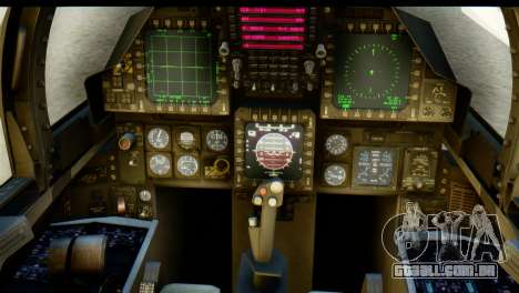F-15J Mitsubishi Heavy Industries para GTA San Andreas vista traseira