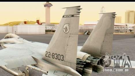 F-15DJ Mitsubishi Heavy Industries para GTA San Andreas traseira esquerda vista