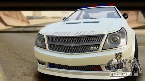 EFLC TBoGT Albany Police Stinger para GTA San Andreas traseira esquerda vista