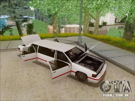 Elegant Limousine para GTA San Andreas vista direita