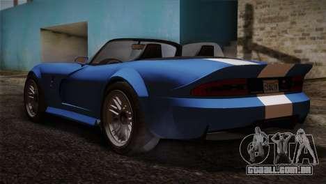 GTA 5 Invetero Coquette v2 para GTA San Andreas esquerda vista