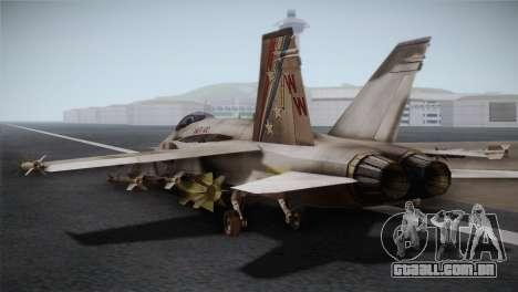 F-18 Hornet (Battlefield 2) para GTA San Andreas esquerda vista
