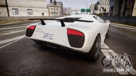 Pegassi Infernus para GTA 4 traseira esquerda vista