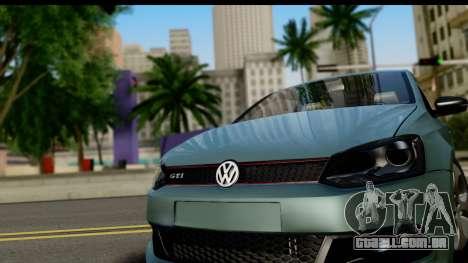 Volkswagen Polo GTI para GTA San Andreas traseira esquerda vista