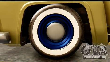 EFLC TLaD Vapid Slamvan IVF para GTA San Andreas traseira esquerda vista