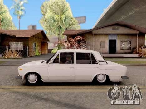 VAZ 2106 Clássico para GTA San Andreas traseira esquerda vista