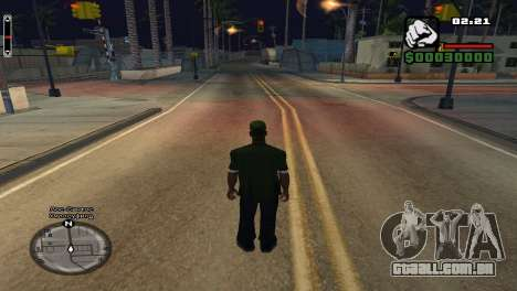Nomes de rua no radar para GTA San Andreas segunda tela