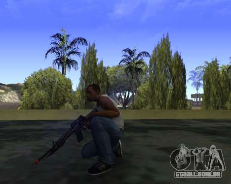 M4A1 Cross Fire para GTA San Andreas terceira tela