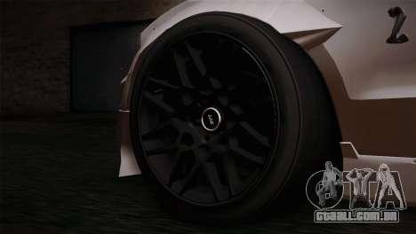 Ford Shelby GT500 RocketBunny SVT Wheels para GTA San Andreas traseira esquerda vista