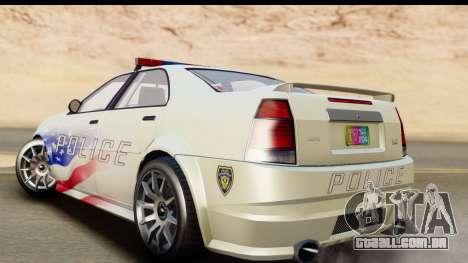 EFLC TBoGT Albany Police Stinger para GTA San Andreas esquerda vista