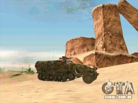 Sd Kfz 251 Da Camuflagem Do Deserto para GTA San Andreas esquerda vista