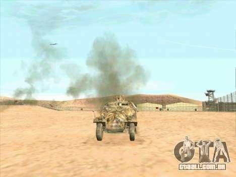 Sd Kfz 251 Da Camuflagem Do Deserto para GTA San Andreas traseira esquerda vista