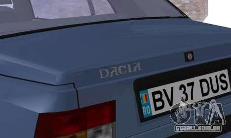 Dacia Super Nova para GTA San Andreas vista inferior