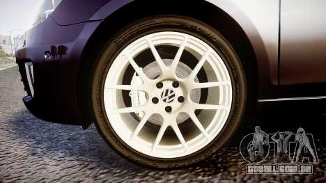 Volkswagen Golf Mk6 GTI rims2 para GTA 4 vista de volta