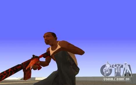 M4A4 Вой CS:GO para GTA San Andreas terceira tela