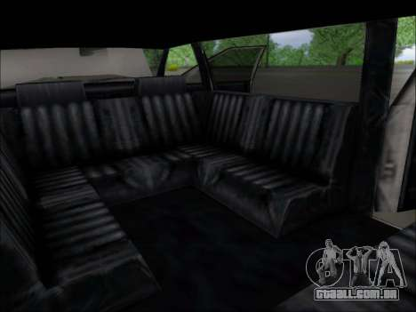 Elegant Limousine para GTA San Andreas vista traseira
