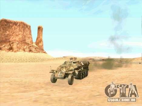 Sd Kfz 251 Da Camuflagem Do Deserto para GTA San Andreas vista direita