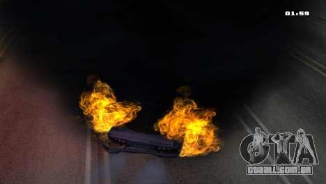 Burning Car para GTA San Andreas quinto tela