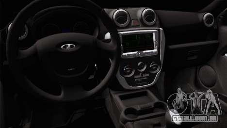 Lada Granta Sport para GTA San Andreas vista traseira
