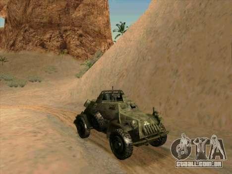SdKfz.222 para GTA San Andreas traseira esquerda vista