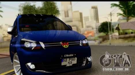 Volkswagen Caddy v1 para GTA San Andreas traseira esquerda vista