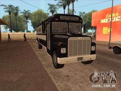 Ônibus из GTA 3 para GTA San Andreas esquerda vista
