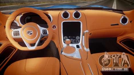 Dodge Viper SRT 2013 rims2 para GTA 4 vista de volta