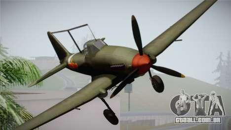 ИЛ-10 Força Aérea Chinesa para GTA San Andreas vista traseira