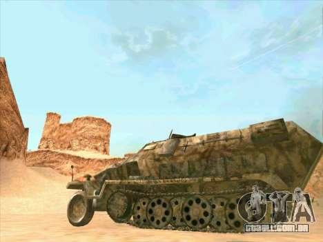 Sd Kfz 251 Da Camuflagem Do Deserto para GTA San Andreas vista traseira